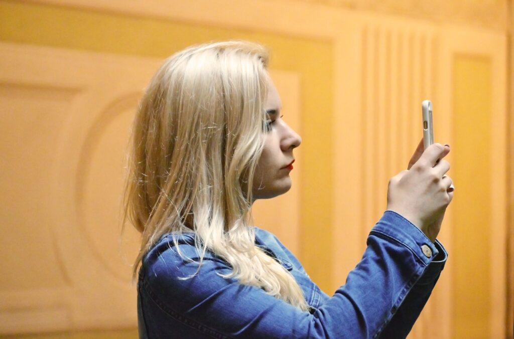 blonde, female, woman
