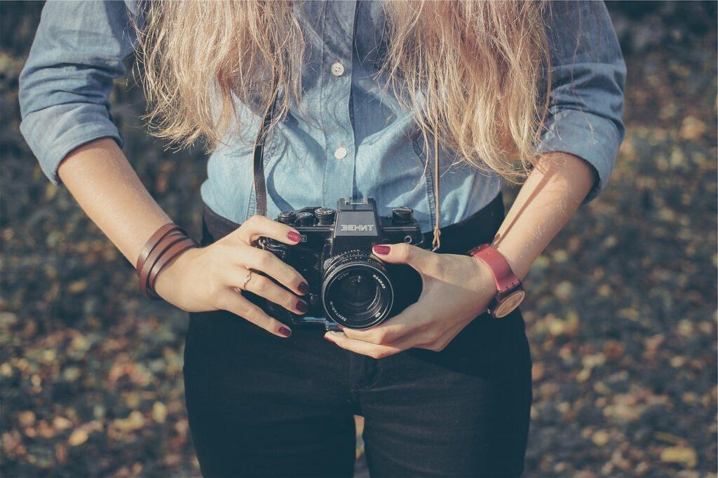 woman, photo, taking