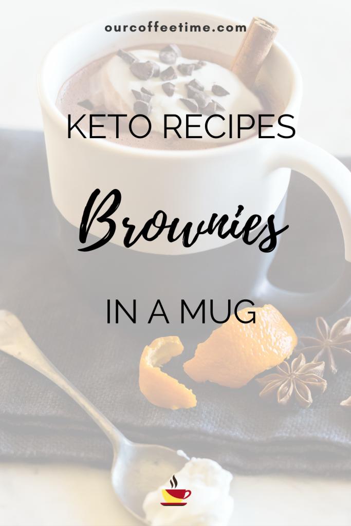 keto brownies in a mug